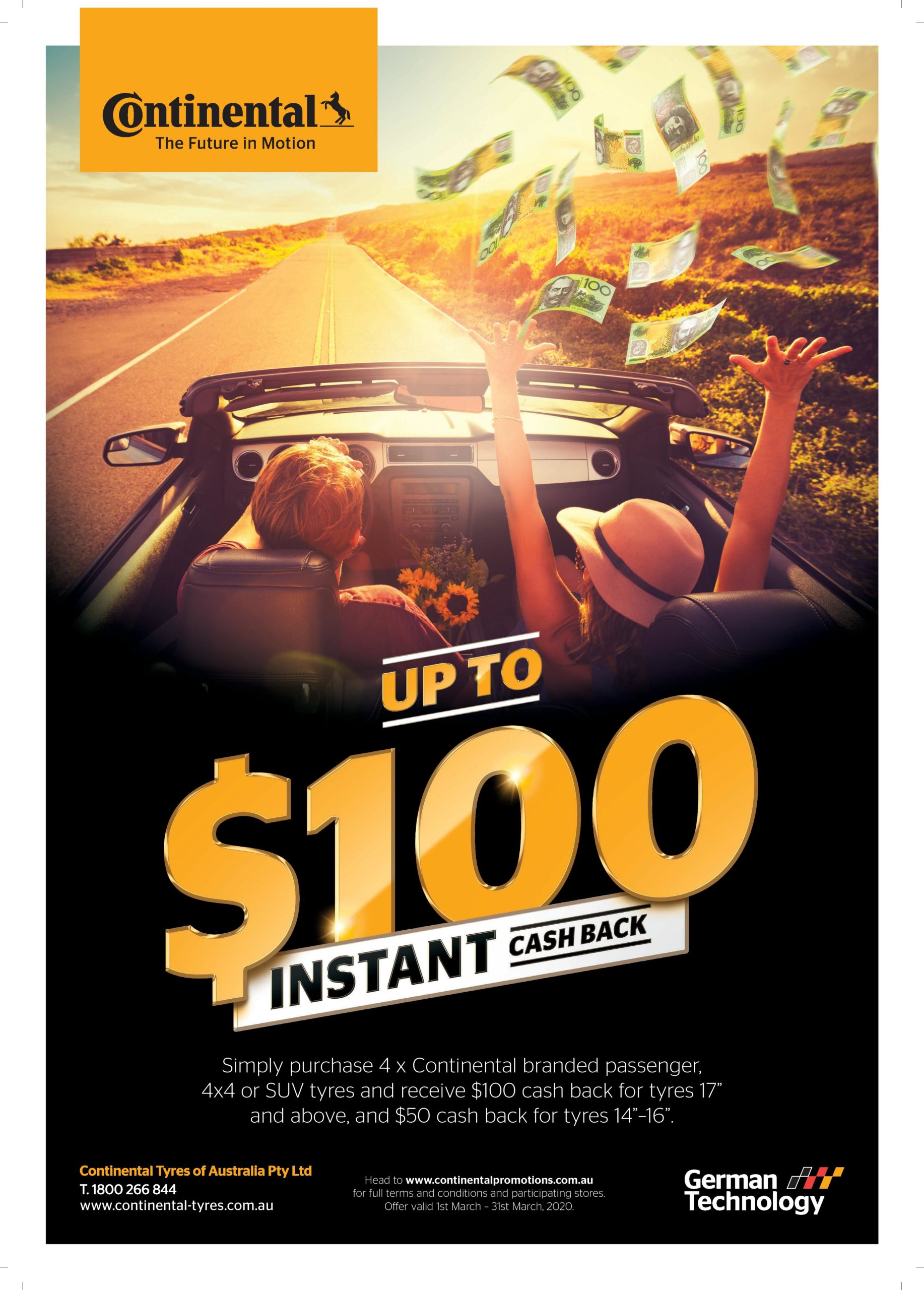 continental tyres march promotion